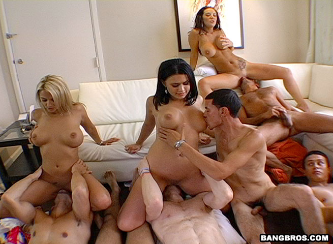 Alicia gang bang 5 men in forest glade - 1 part 9