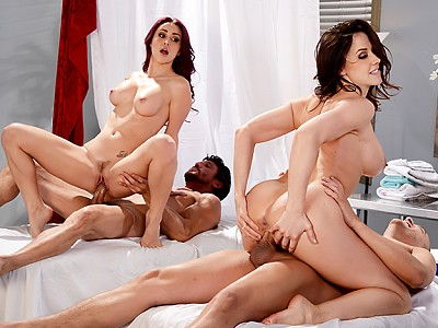 Monique Alexander y Chanel Preston,Tommy Gunn y Xander Corvus