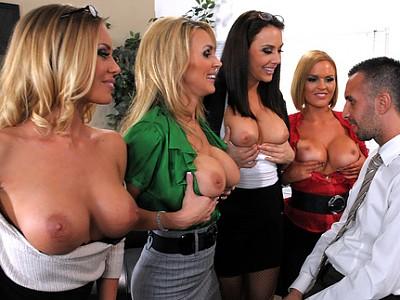 Nicole Aniston,Tanya Tate,Krissy Lynn y Chanel Preston y Keiran Lee
