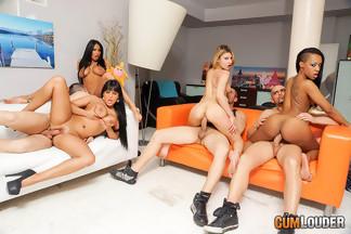 Anissa Kate, Claudia Shotz, Jasmine Black y NoeMilk en una buena orgía, foto 7