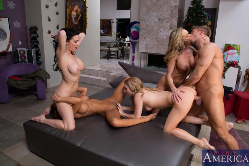 Family orgy sex